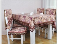Free shipping NN#69 Accor upscale classic European noble gold cloth table cloth+Chair cushion + chair covers