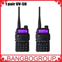 2015 Cheapest 2 pcs /set UV 5R Portable Dual band VHF UHF two way radio 136-174/400-520 ham cb radio uv-5r Walkie Talkie