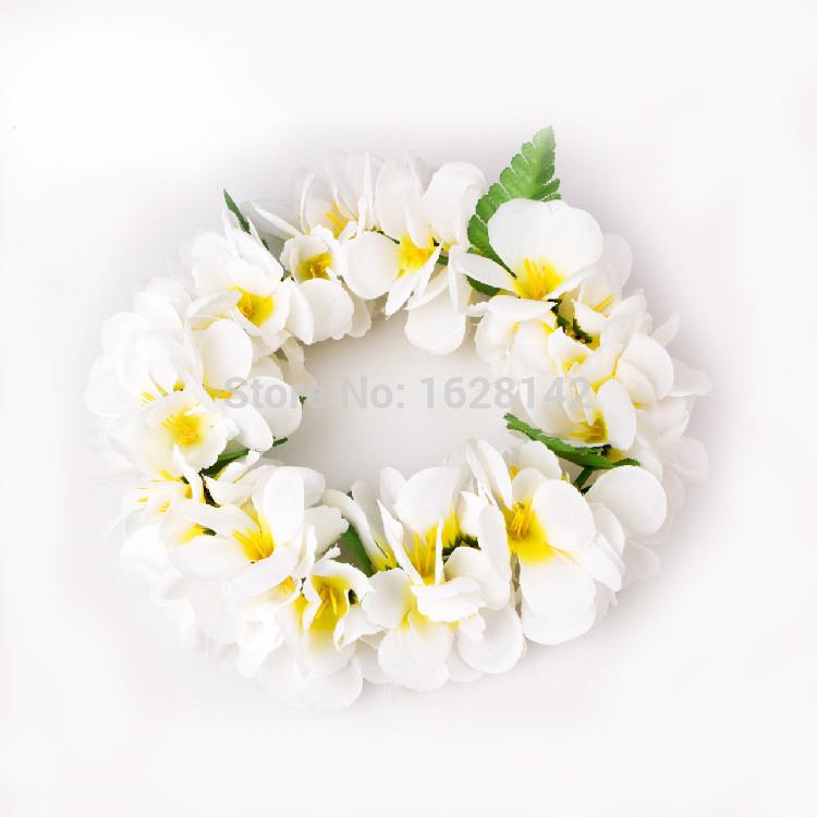 6Sets/Lot Free Shipping Artificial flowers Hawaiian leis/Flower Lei headband set Wedding Flowers/CA1013(China (Mainland))
