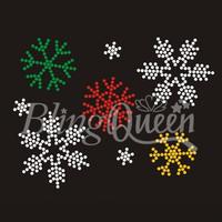 25PCS/LOT Custom Iiron On Rhinestone Heat Transfers Snowflakes Design