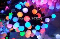 christmas color changing led ball string lights decoration light