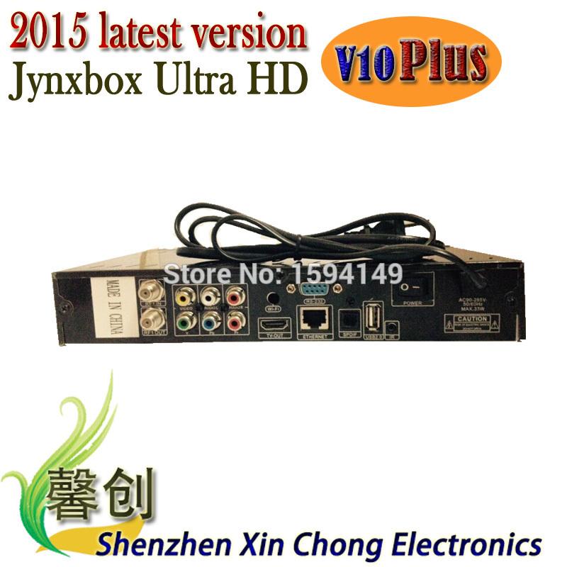 NEW 2015 fta satellite receiver hd north america JynxBox Ultra HD V10 plus fta hd receiver Jynxbox v10+satellite finder(China (Mainland))