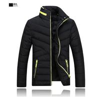 2014 Hot Sale Men Winter Jacket Korean Style Slim Fit Fashion Warm Thick Men Coat Free Shipping       140