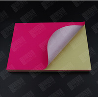 Free Shipping 100pcs/lot rose-red sticky self-adhesive nonstandard A4 210*290mm matte(matt) printing paper color paper