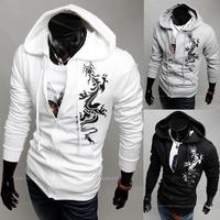 2015 super deals mens sportswear hoodies male dragon printed sweatshirts for men zipper tracksuit man hip hop hoody  LL1598