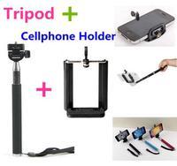 Flexible Camera Tripod Aluminium Handheld Monopod Selfie Stick Phone Holder Adapter For Iphone 5 Samsung Gopro Accessories