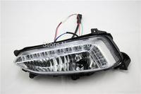 led daytime running light lamp fog lamp cover  for  Hyundai IX45 Santa Fe one hole 2013-2015  driver auto light