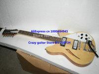 Wholesale -custom guitar Natural 12 Strings  custom 2 Pickups Electric Guitar Wholesale Guitars Free Shipping