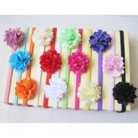 Cute flower baby girls headbands kids elastic hair band infant hair accessories head hoop fabric hair flowers for headbands