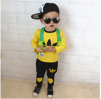 2015 new Kids Girls Clothes Sets Baby Good Quality Long Sleeve T-Shirt+Pant Children Cotton Casual Sportswear C060