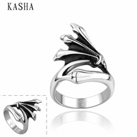 Stylish New 316L Stainless Steel Men's Skull Rings Punk Vintage Party Skeleton Jewelry 316L stainless steel punk ring KASHA017