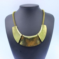 N18 European retro metal exaggerated fashion statement collares necklace vintage for women jewelry accessories LC30