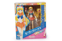 "New Arrival 6""15cm Sailor Moon Venus PVC Figure Collection Model Christmas Gift Free Shipping"