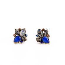 Elegant Rhinestone Earrings Wholesale Mulit Color Retro Pendientes Stud Earrings Jewelry