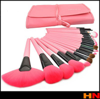 2014 Hot Professional Makeup Brush Set Pink Makeup Brushes 24PCS/Set Including a Deluxe Carrying Case! Pink color