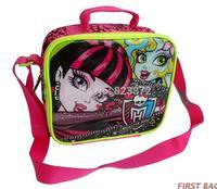 New Original Monster High Lunch Bag School Lunchbox Thermal Bag Girls Picnic Lunch Box for Kids Bolsa Termica Lancheira