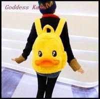 Goddess KaKa!! Fashion Cartoon bolsas mochilas feminina Small yellow duck Backpack for girl/boy  mochila infantil  GG020