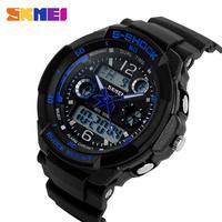 SKMEI Men's Watches Outdoor Sport Waterproof LED Digital Analog Quartz Watch Military Multifunction Boy Girl Sports Wristwatches