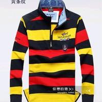 Free shipping Paul striped collar fashion men's long sleeve T-shirt ancient Italy shark brand men's clothing SHA-MH999