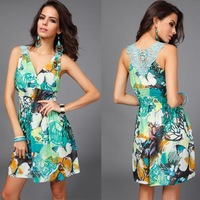 2015 summer large size ice silk lace skirt fight ice silk dress bohemian beach dress butterfly