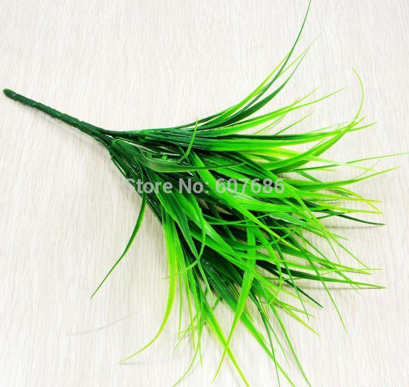 Aliexpress com  Koop groothandel 50 stuks kunstgras struik groene kunstbloemen en planten kleine