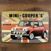 MINI COOPER Car METAL Poster Retro TIN SIGN Craft Home Decoration H-114 Mix order 20*30 CM