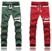 2015 HOT High quality Mens Fit Sweat Pants Jogging Trousers Slacks Casual Sports Skinny Harem Pants yyMD410