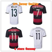 Top Thai 4 stars quality Germany Jersey 2014 Muller Klose Germany World Cup 2014 Soccer Camiseta de futbol Jersey Football Shirt