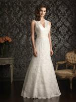 Luxury White/Ivory Lace Bridal Gown Wedding Dress Custom Size 4 6 8 10 12 14 16   1-0249