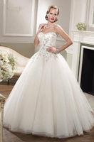 2014 New White/ivory Wedding Dresses Custom Size 6+8+10+12+14+++   1-0257