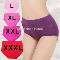 10 pcs/lot 2015 new high-quality medium waist Panties elastic comfortable lady Modal Briefs plus-size women underwear