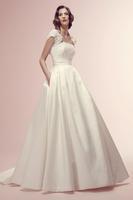 New White/Ivory Taffata Wedding Dress Bridal dress Custom size 6 8 10 12 14 16   1-0250
