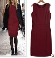 2015 NEW SLIM WOMEN'S DRESSES SOLID WOMEN DRESS PLUS SIZE S-XXXL VINTAGE VESTIDOS FEMININOS COTTON WAILD DRESS