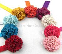 free shipping 9 colors New Beautiful Big Flower Headband Hairband Baby Girls Headbands Hair Accessories Gift