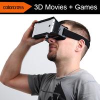 "2015 brand ColorCross Universal Virtual Reality 3D Video Glasses for 4~7"" Smartphones Cardboard Oculus rift dive vrase - Black"