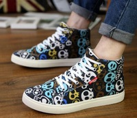 2014 autumn and winter fashion shoes male shoes sneaker plus velvet cotton-padded shoes the tide skateboarding shoes male