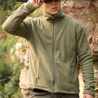 IKAI Men'S Fleece Jacket Warm Casual Man Outdoor Jacket Breathable Hiking Windstopper Coat Spring Climbing Jacket HMJ0013-5
