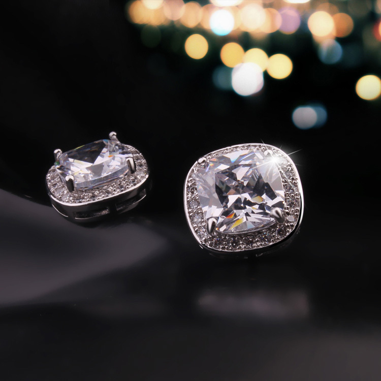 New Jewelry with Box Real Gold Plated Top AAA CZ Zircon Crystal Diamond Fashion Jewelry Drill Crystal Earrings for Women KE780(China (Mainland))
