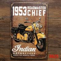 1953 INDIAN MOTOR TIN SIGN Retro Wall ART Metal Home Bar Decoration K-76 Mix order 20*30 CM
