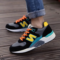 Autumn and winter male casual shoes sport shoes letter n fashion cotton-padded shoes trend plus velvet skateboarding shoes male