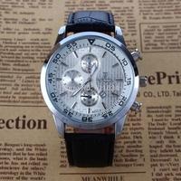 2015 Men DZ Watches Men's Luxury Brand Atmos Clock Leather Strap Quartz Watch dieseles Men Military Wristwatch
