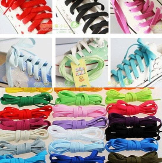 Mixed Colored Candy Color Sports Sneaker FLAT/OVAL/FAT Shoe Laces Shoelaces New(China (Mainland))