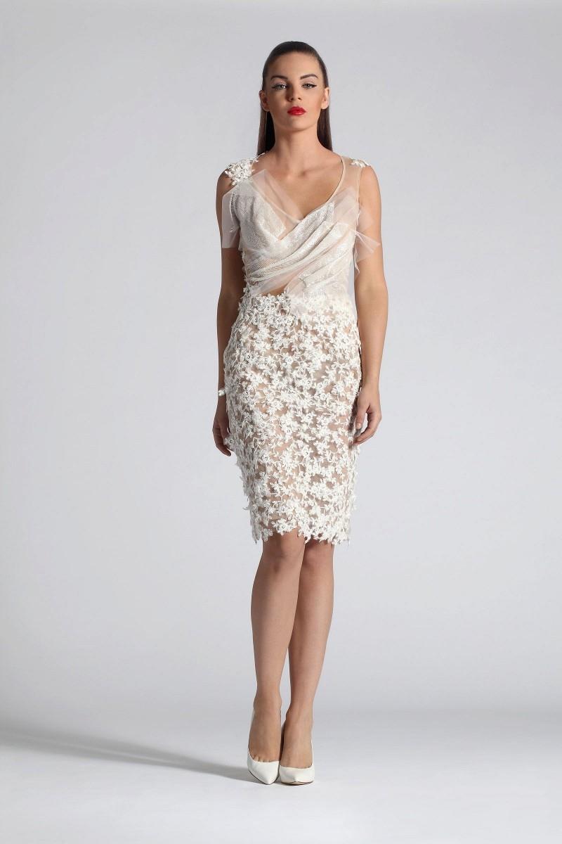 -2015-White-Short-Elegant-Cocktail-Dresses-Knee-Length-Graduation ...