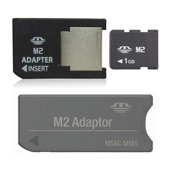 1GB Memory Stick Micro with 2 M2 adaptor Memory card M2 card(China (Mainland))
