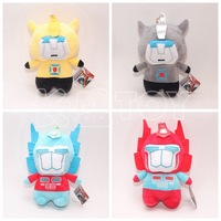 2015 Plush Transformation Brinquedos Optimus Prime Bumblebee Kids Classic Robot Cars Toys Baby Dolls Toys