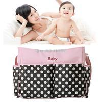 2015 fashion polka dot baby buggy bag baby diaper bag multifunctional mummy bag bolso maternal2 colors free shipping