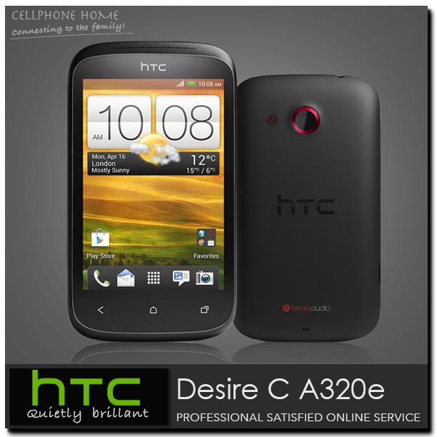 "Desire C Unlocked Original HTC Desire C A320e 4GB WIFI GPS Andriod OS 3.5"" 5MP Camera 3G Cell Phones one year Warranty Free ship(China (Mainland))"