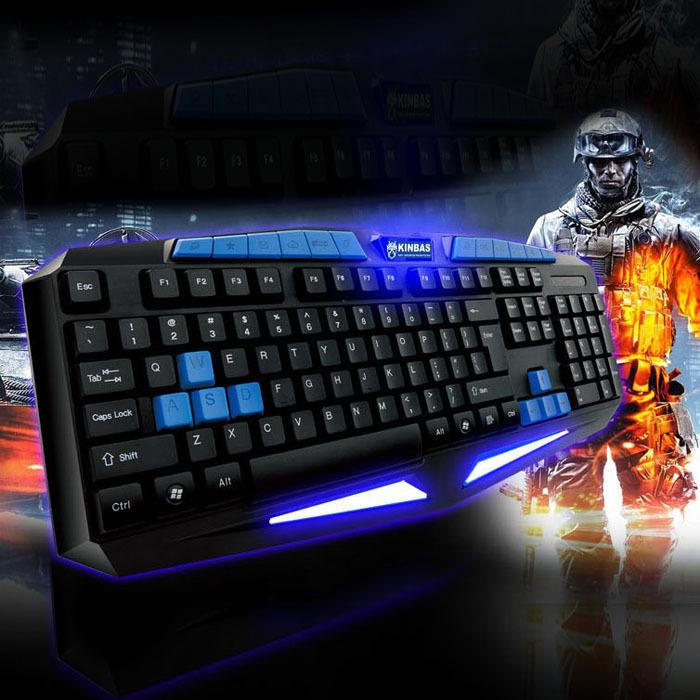 Internet Wired Gaming illuminated Durable Professional Game Keyboard Free shipping &wholesale(China (Mainland))