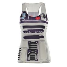 Hot Sale Sexy Purple R2D2 Digital Printed Tank Tops For Women H Vest Vestidos Femininos(China (Mainland))
