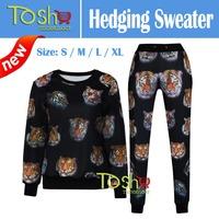 2015 Newest Tracksuits Emoji Sweatshirt Women Hoody Sport Suit Fashion Women Emoji Hoodies Joggers Pants Free Shipping